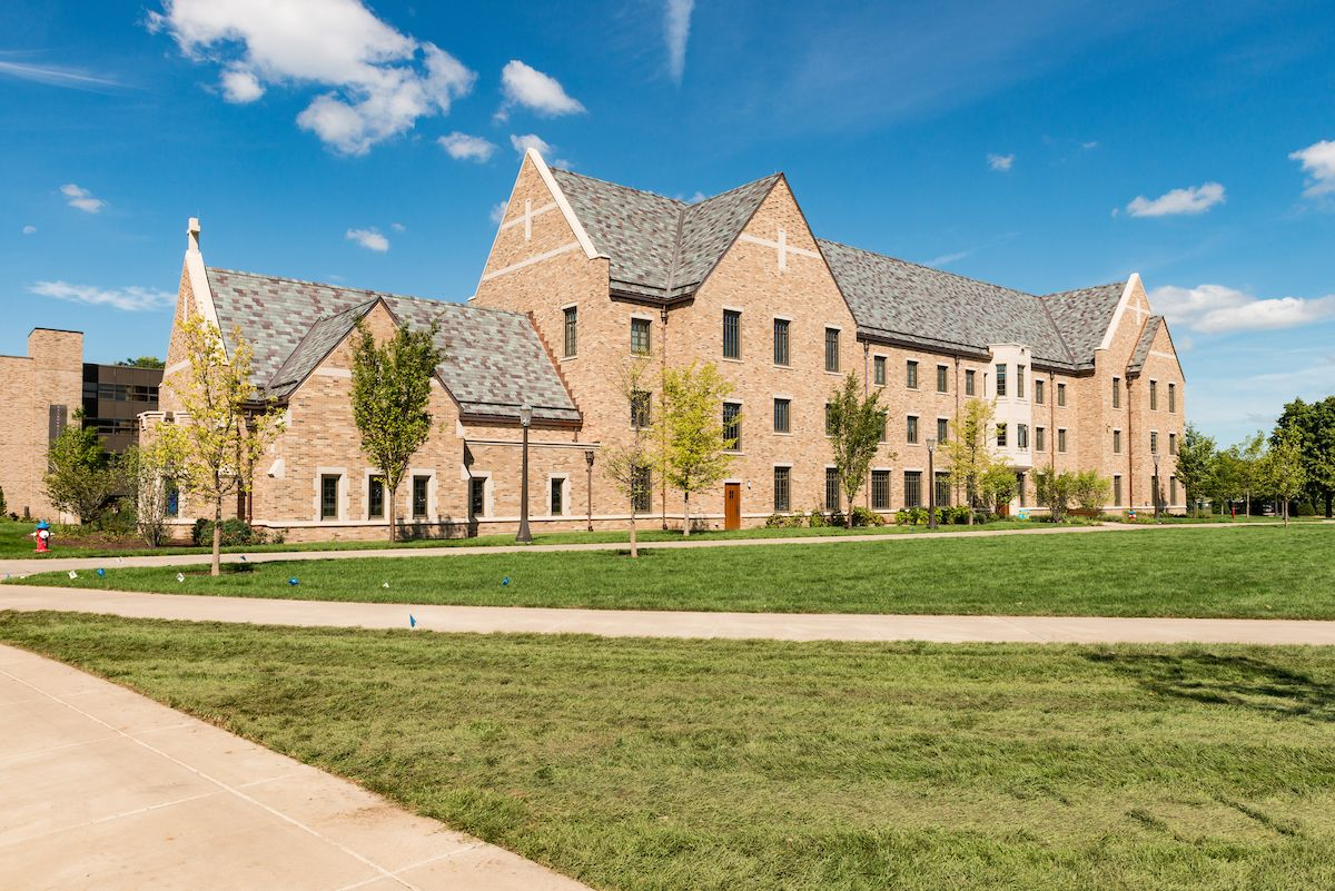 Dunne Hall a new men's residence hall on East Quad