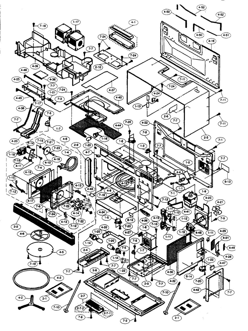 sharp microwave parts diagram google