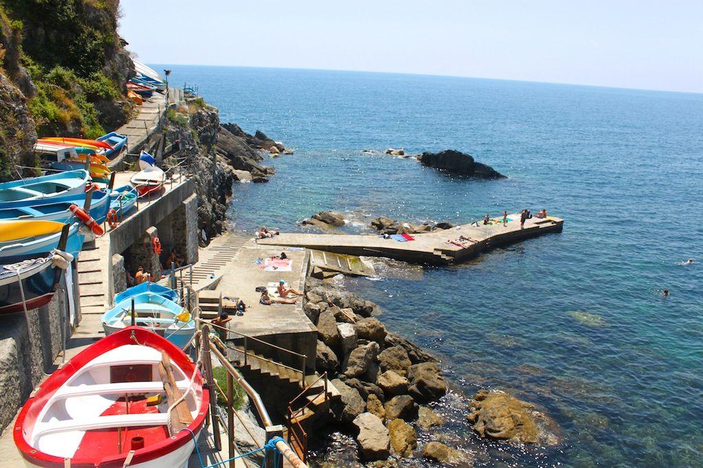 Vernazza beach