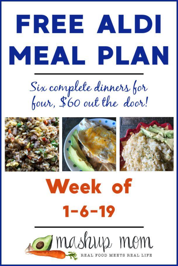 Free ALDI Meal Plan week of 1/6/19 - 1/12/19 images