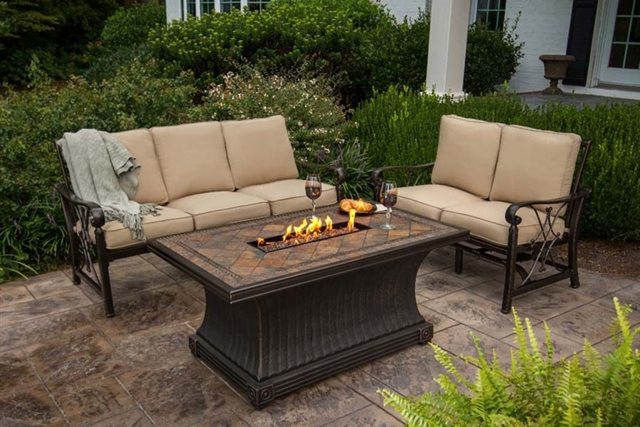 Agio Arrington Fire Pit Set | Patio Furniture   Deep Seating | Pinterest | Fire  Pit Sets, Fire Pits And Fire