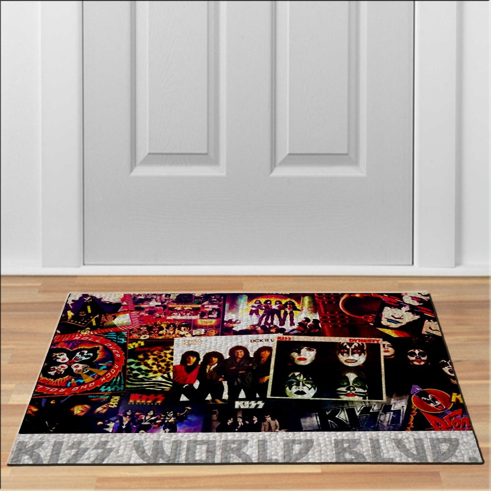 nice KISS WORLD BLOD Floor Durable Door Mat NonSlip