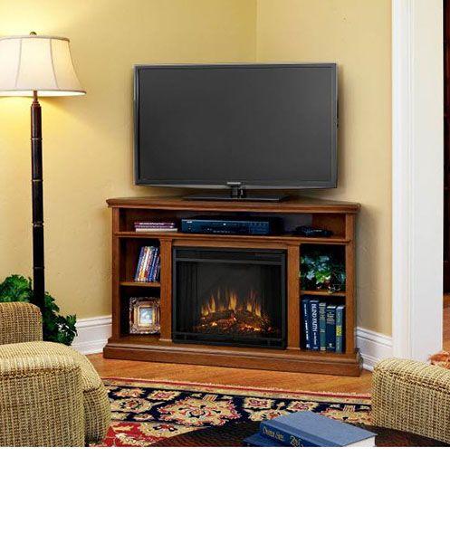 corner entertainment centers with electric fireplace entertainment bar pinterest more. Black Bedroom Furniture Sets. Home Design Ideas