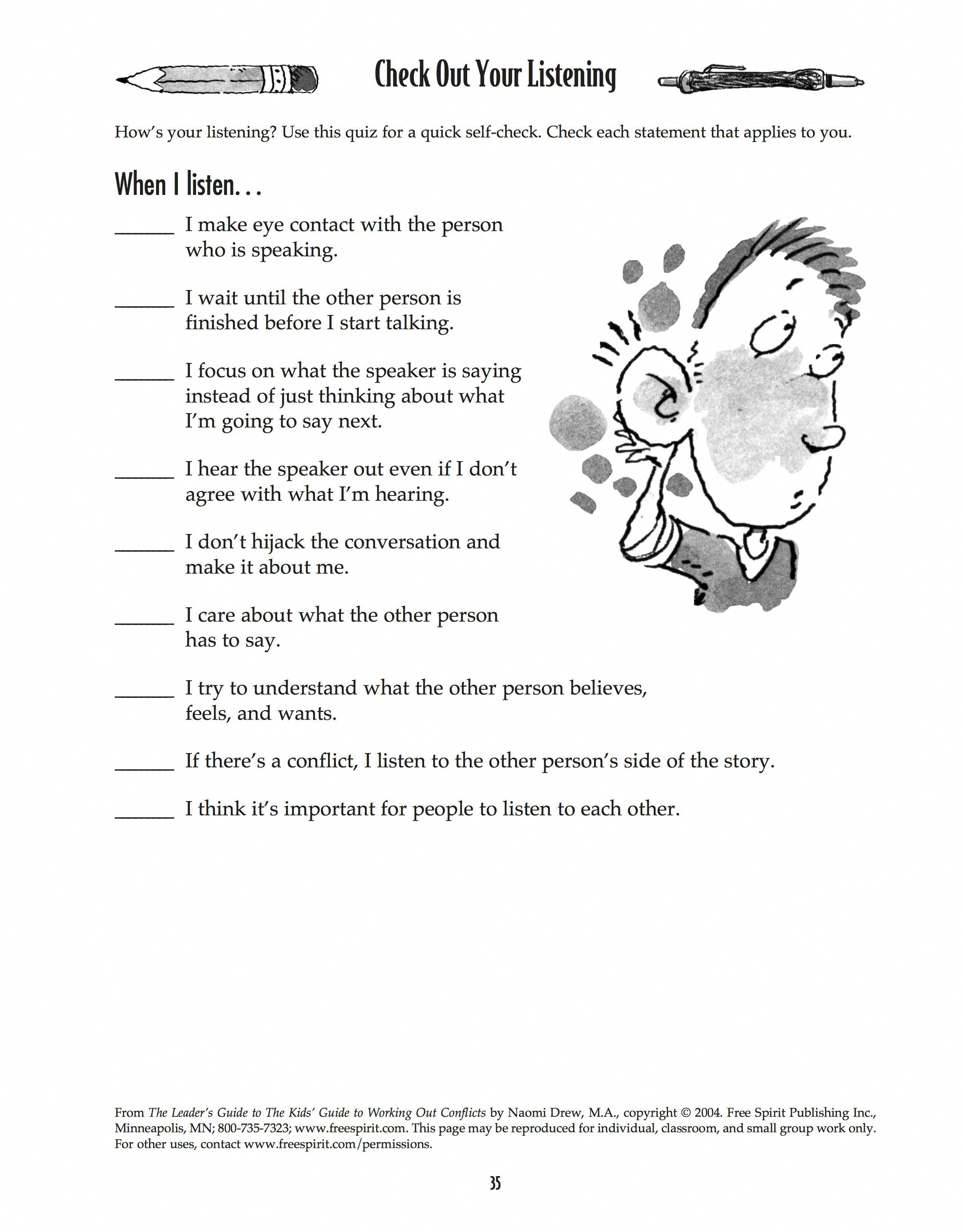Download Check Out Your Listening A Free Printable From