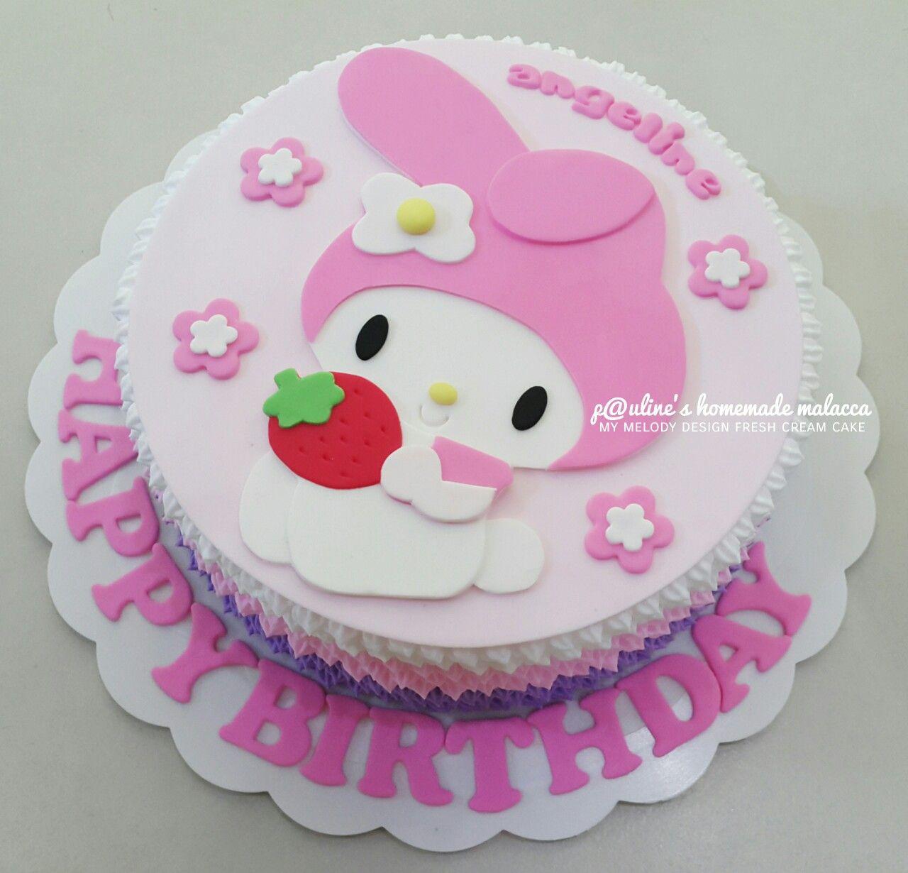 My Melody Design Fresh Cream Cake Paulineshomemademalacca