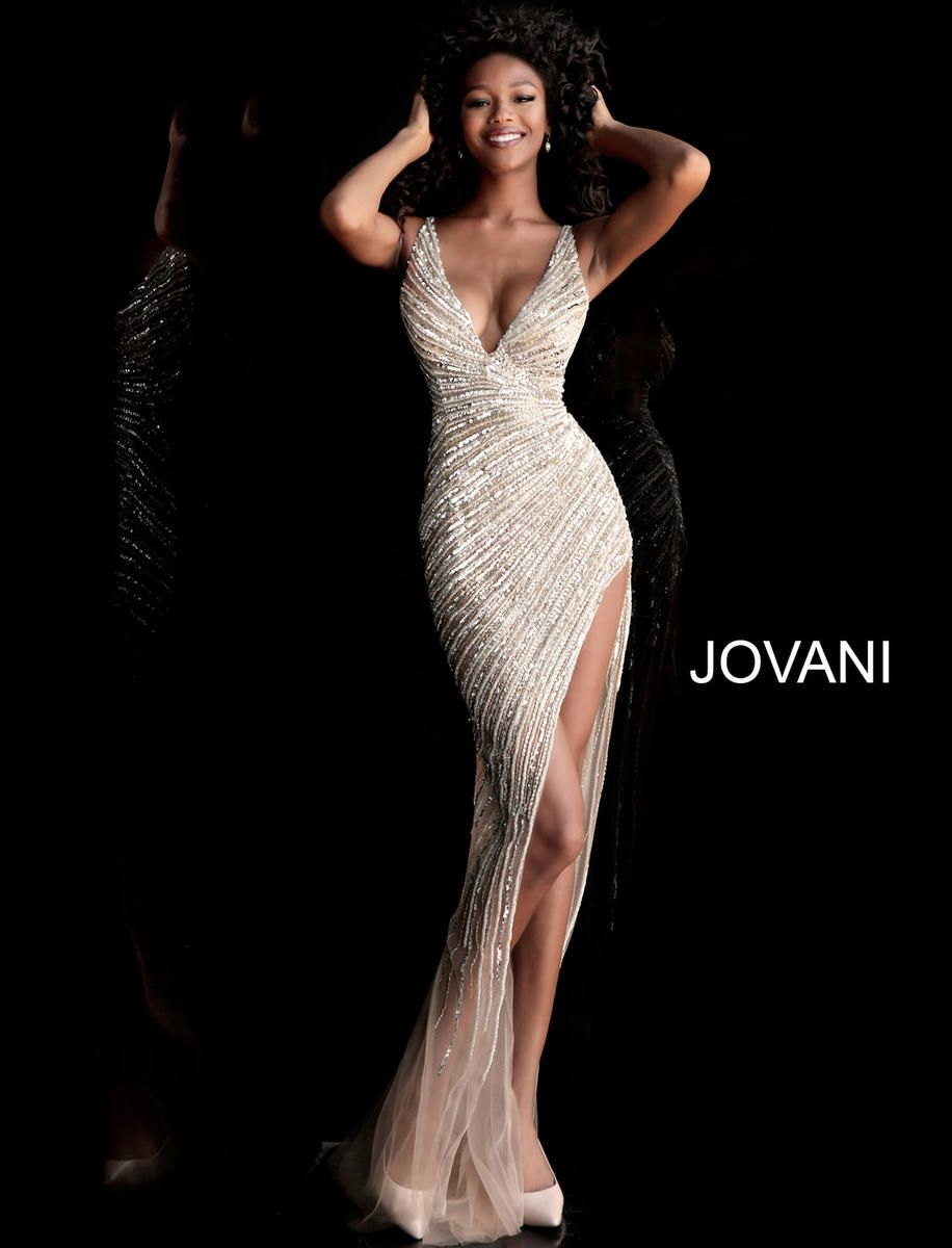 08e61fc6628d8c Jovani 59852 Crystal Beadwork Evening Dress in 2019