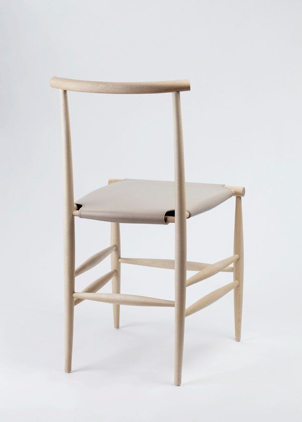 Back View Of Simple And Elegant Chair Resembling Skin And Bones Structure Elegant Chair Minimal Chairs Solid Wood Chairs