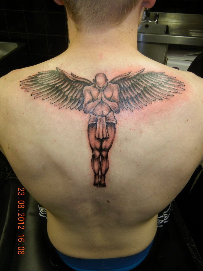 Guardian Angel Tattoo By Geritattoo On Deviantart Tattoos Pinterest