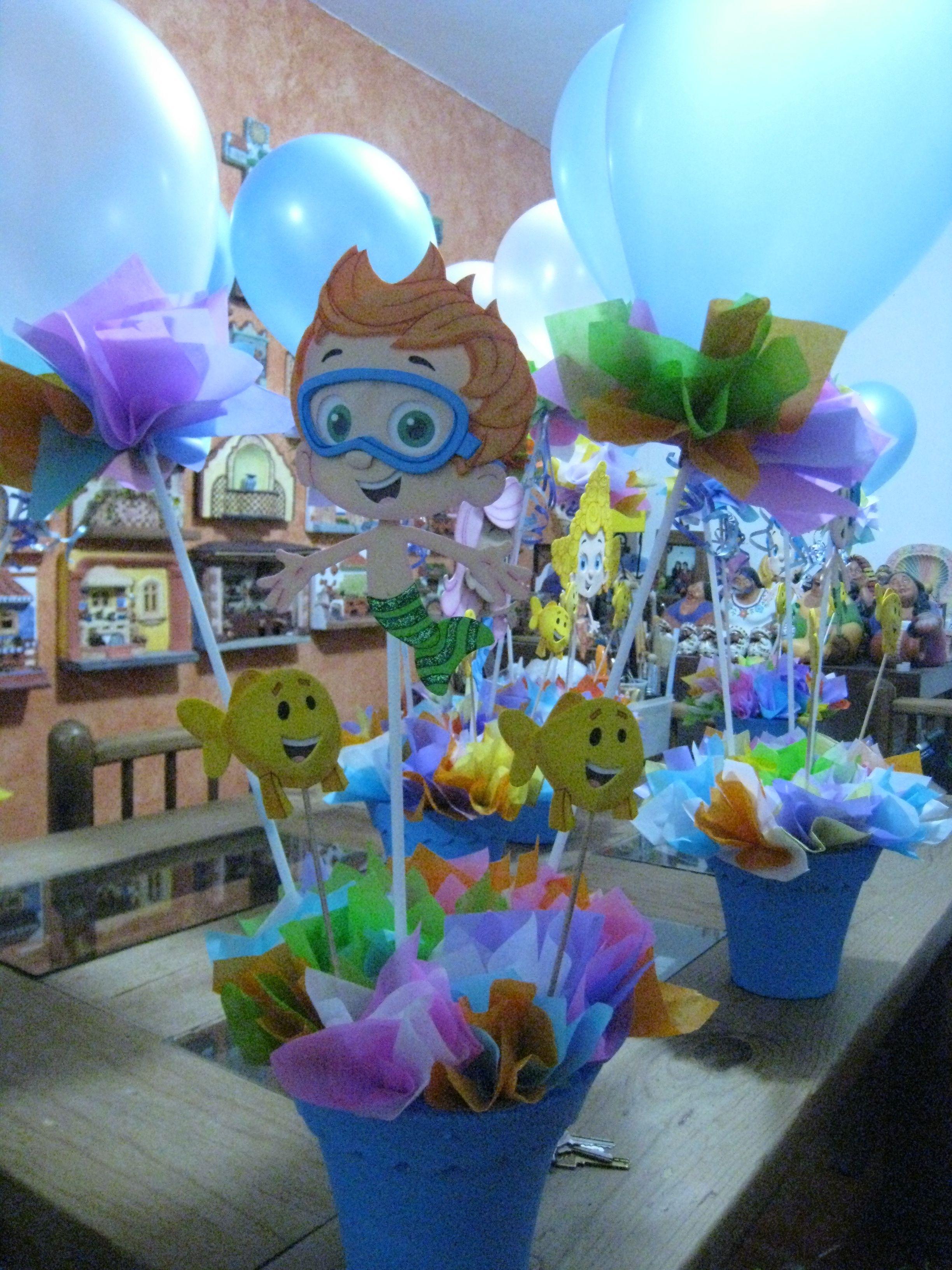 Decoracion Centros De Mesa Para Fiesta De Ninos Table Centerpieces Pool Party Centerpieces