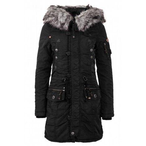 Palton Dama Khujo Negru Claire   Jachete toamna iarna