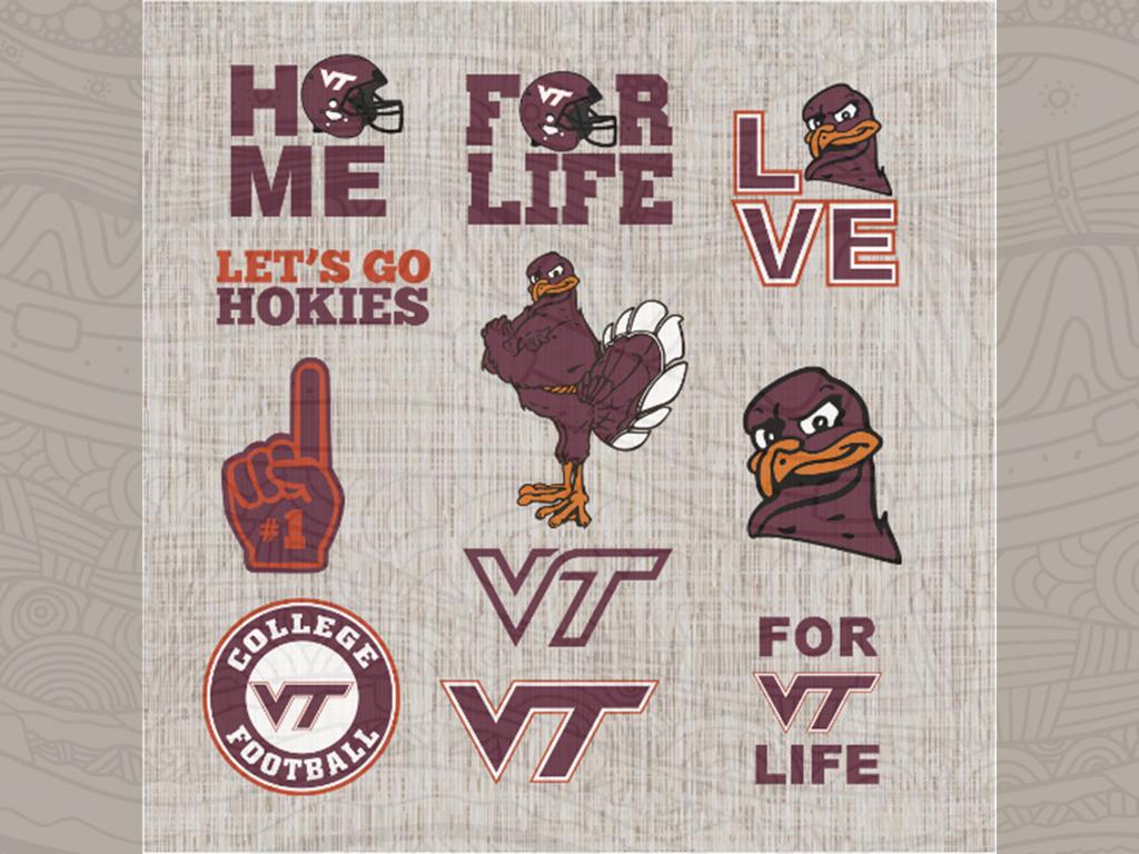 Rivalry Virginia Tech Vs Va Poster Zazzle Com In 2020 Virginia Tech Virginia Tech Football Rivalry