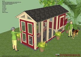 home garden plans: M102 - Chicken Coop Plans Construction - Chicken Coop Design - How To Build A Chicken Coop