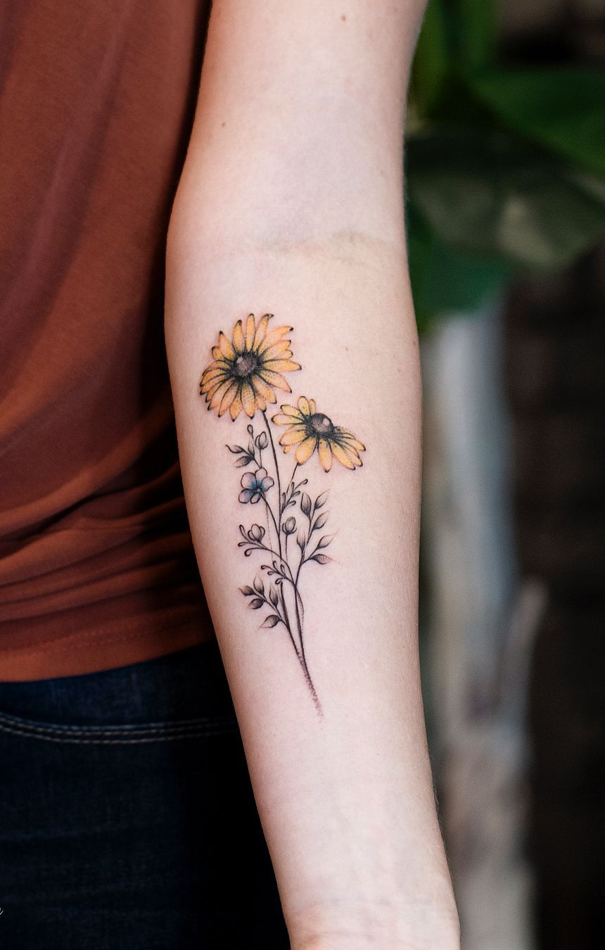 Sunflower And Daisy Tattoo: Celebrate The Beauty Of Nature With These Inspirational