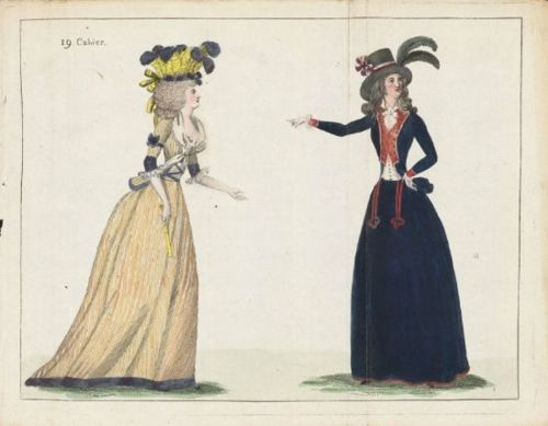 Journal de la Mode et du Gout, August 1790. Blue habit
