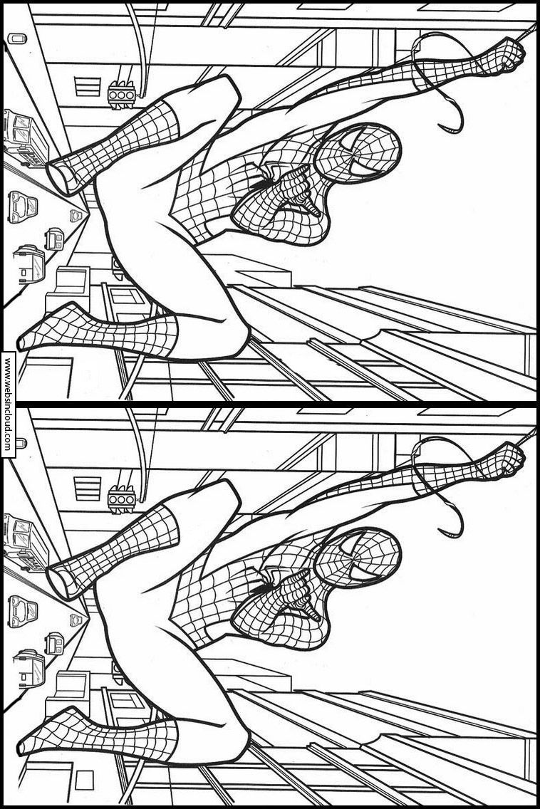 Jeux de trouver les différences Spiderman 22   Spiderman, Trouver les difference, Coloriage