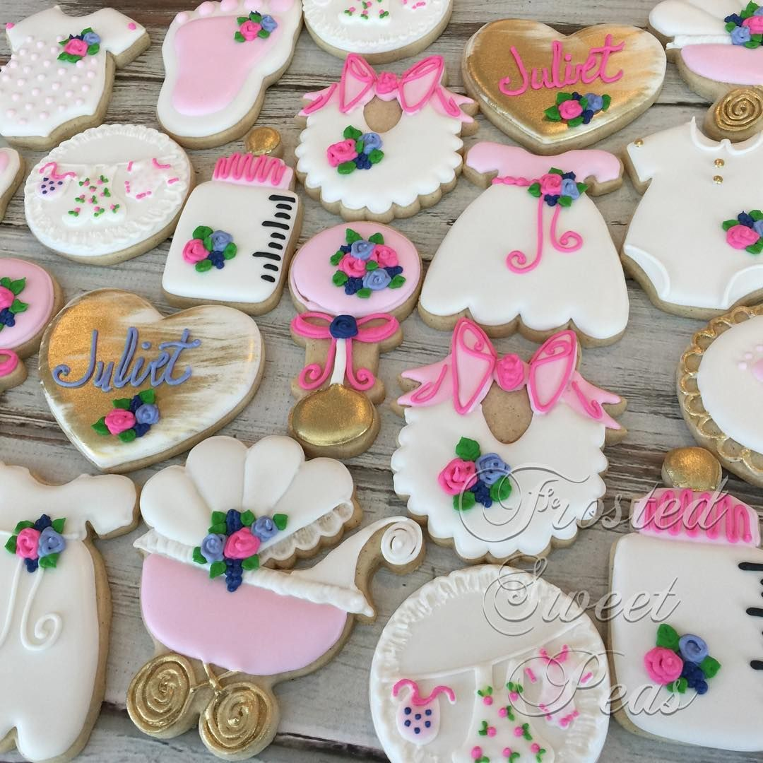 @frostedsewwtpeas...baby shower cookies