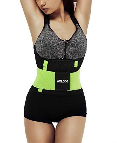 3de0383b23 Welcos Women Waist Cincher Trainer Body Belt Shaper Workout Gym Slimming  Girdle Corset Shapewear Light Green Looking for the best fitted waist  training belt ...