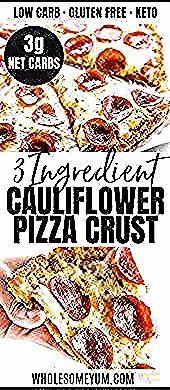 Einfache Low Carb Blumenkohl Pizza Crust Rezept  3 Zutaten