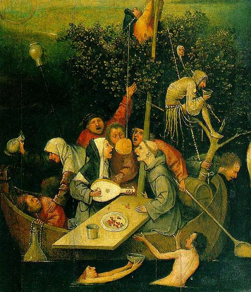 Jerome bosch la nef des fous d tail foucault for Bosch jardin des delices