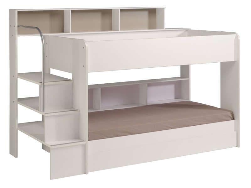 lit superpos 90x200 cm blanc lit superpos superpose et lits. Black Bedroom Furniture Sets. Home Design Ideas