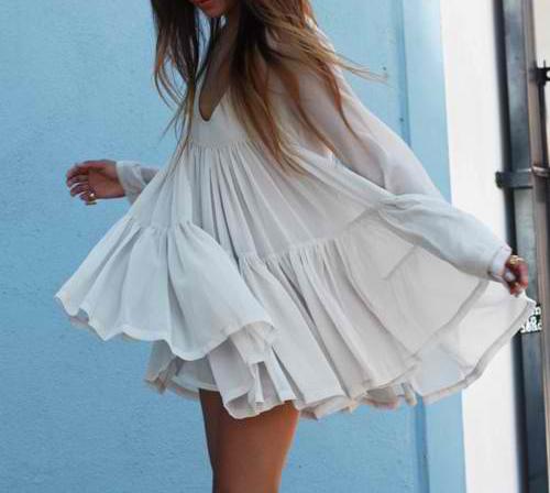 Flowy dresses.
