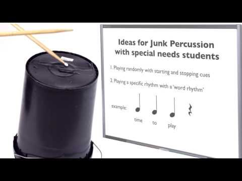 Teaching Junk Percussion Music for students with special needs - I really like the sample plans I get sent and I like this idea