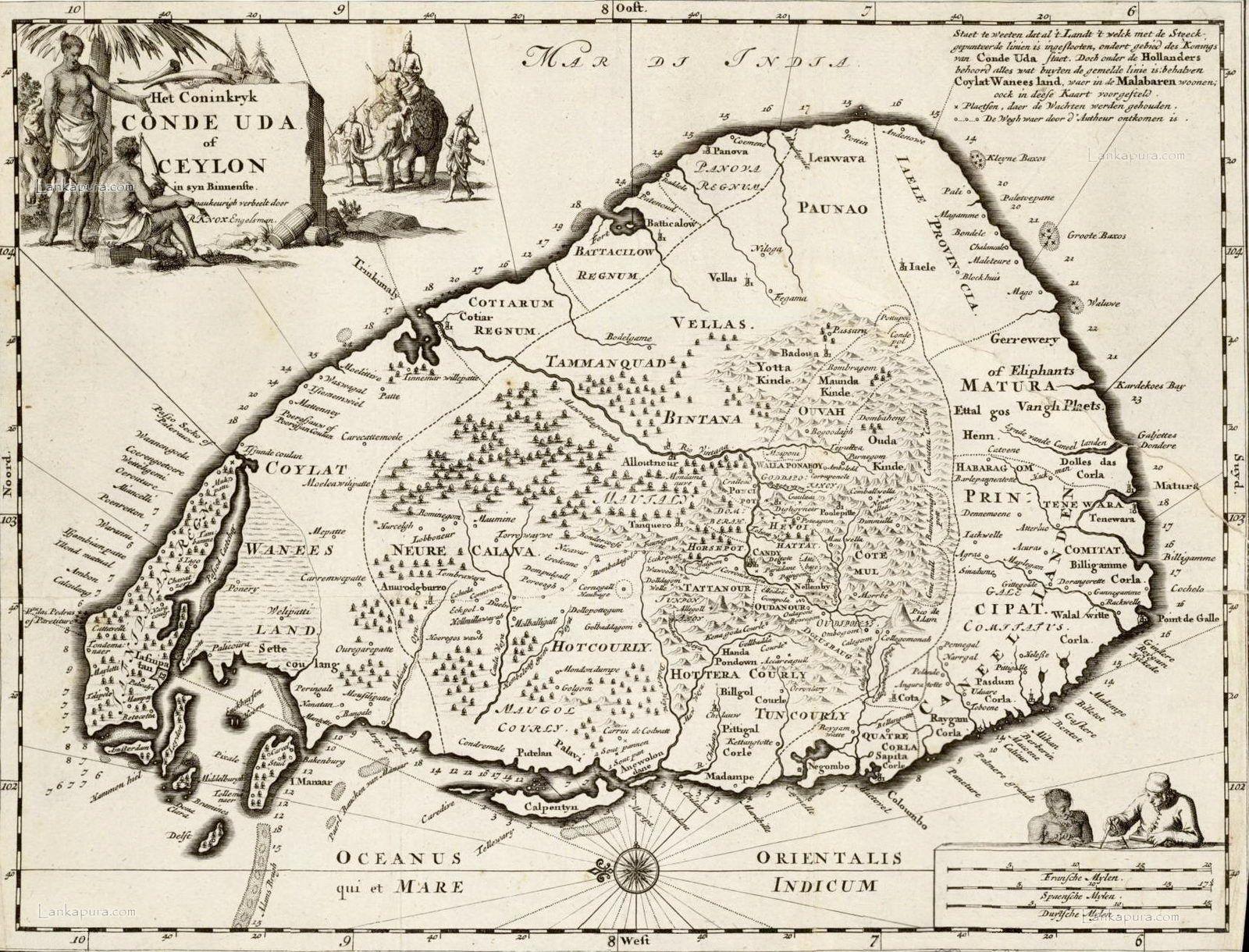 Map Of Eelam Tamil Country Engraving 1692 Carte Du Monde Maps Carte Carte