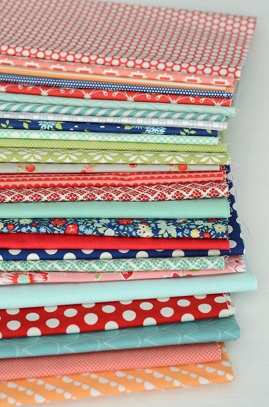 Camille's APQ fabric -- love the combo