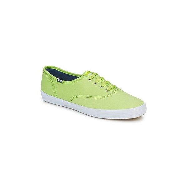 Keds CHAMPION OXFORD Shoes (Trainers) (240 DKK) ❤ liked on Polyvore featuring shoes, sneakers, lime, trainers, women, lime green shoes, oxford shoes, keds footwear, keds and keds shoes