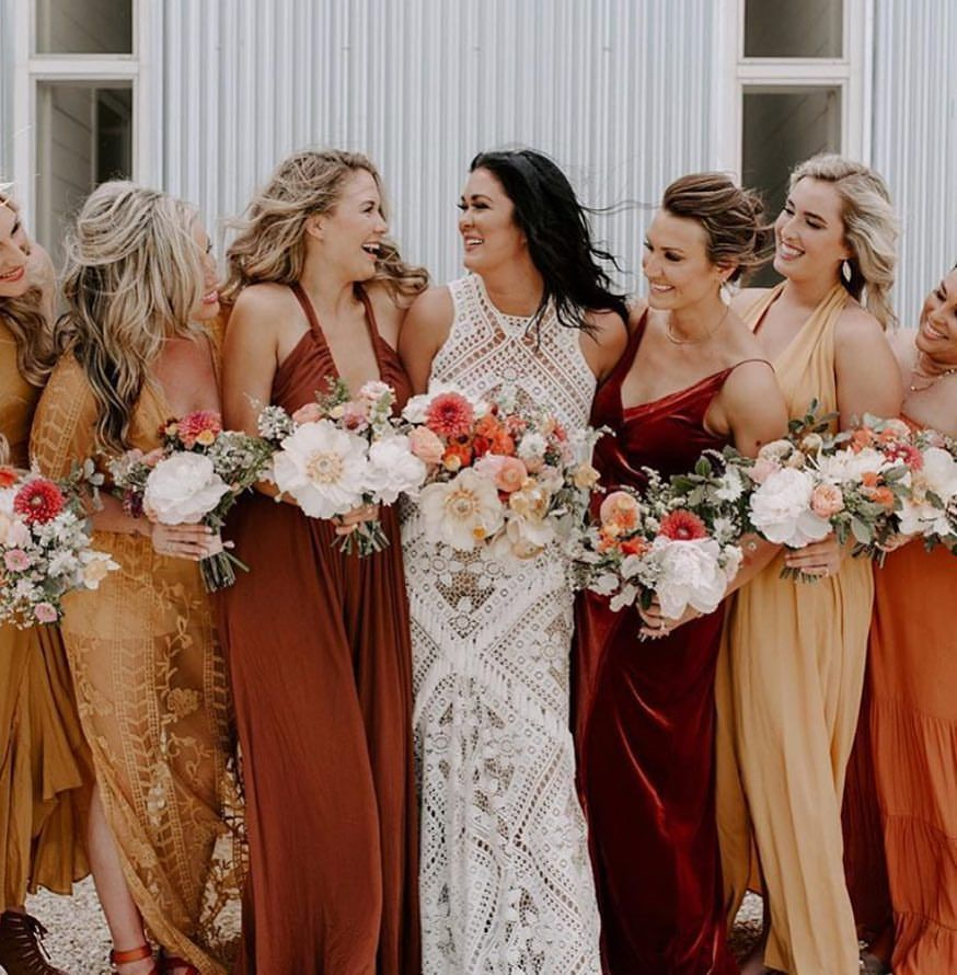 Beautiful Blake Gown Bride And Her Stunning Bridesmaids In
