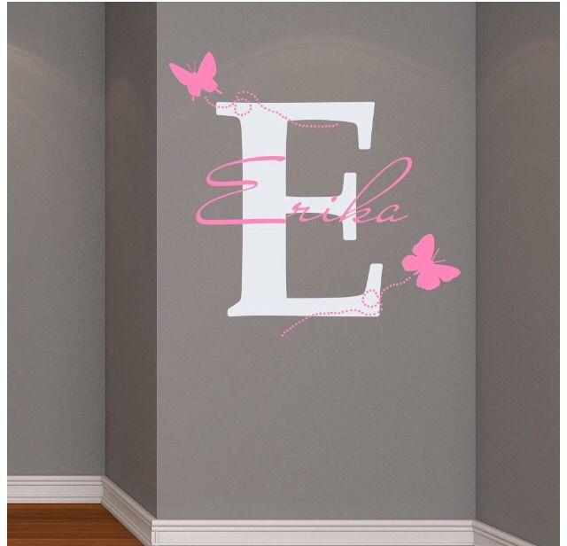 Babyzimmer wandgestaltung mädchen  Wandgestaltung | Mädchenzimmer | Pinterest | Wandgestaltung ...