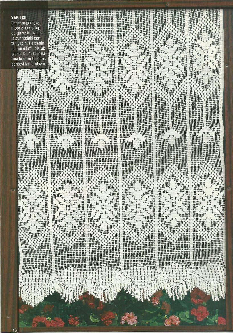 Kolay Dantel Perde Örneği | Elişi Perdeler--Handmade Curtains ...