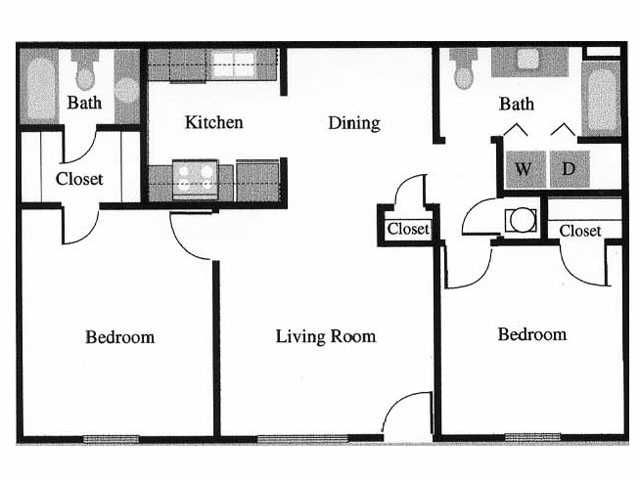 GREAT 2 BEDROOM 2 FULL BATH- 1040 SQUARE FEET- Starting at ...