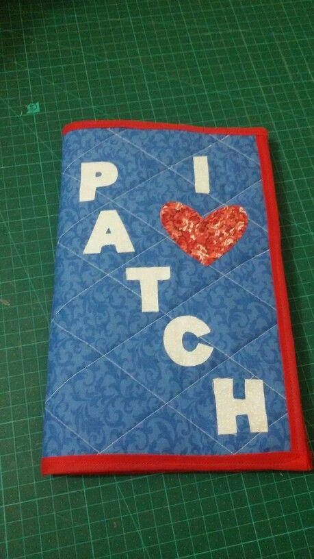 Capa caderno em Patch feito pela aluna Marcella