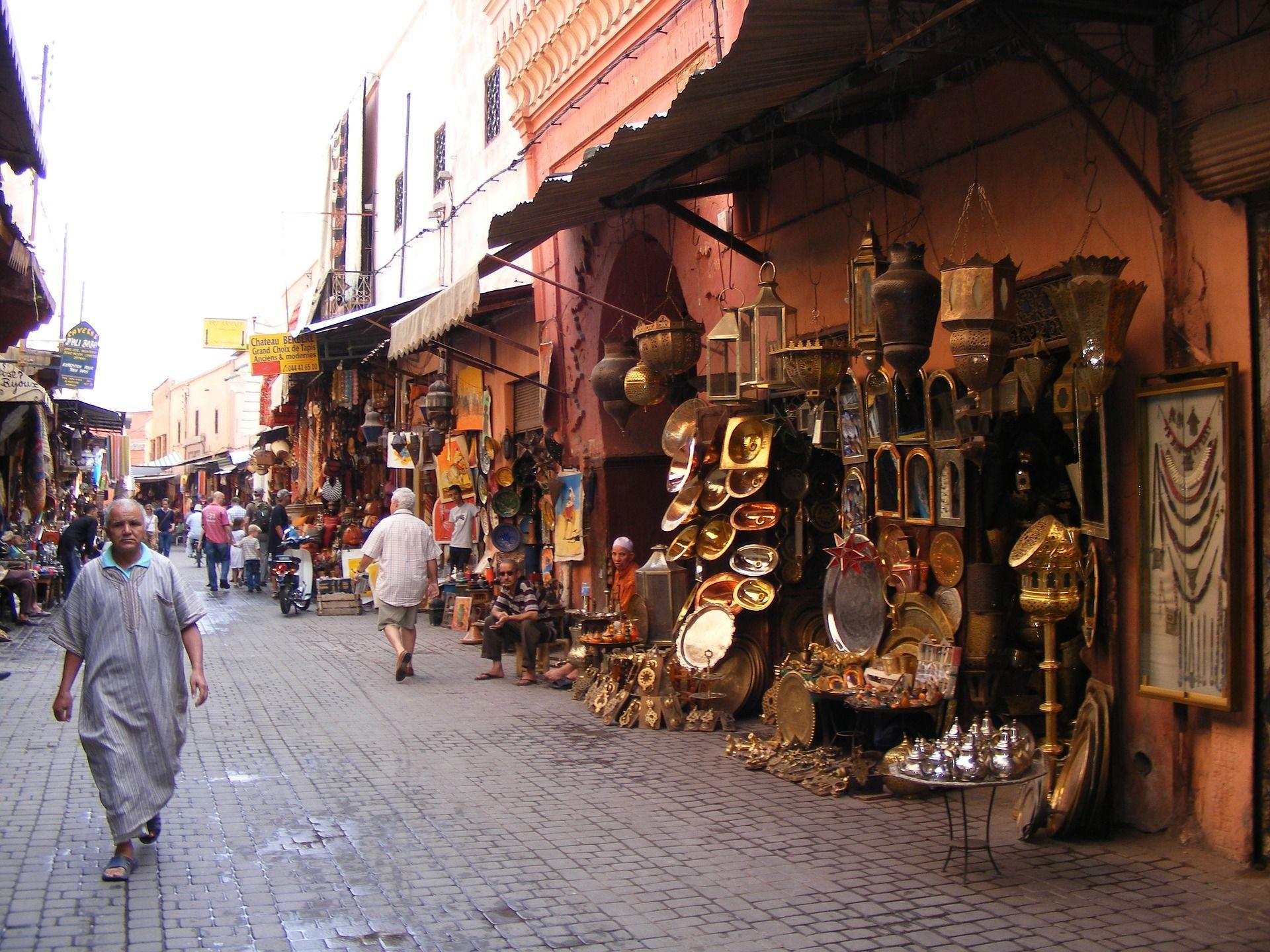 Marrakesch Strassen Marrakesch Marokko Reisen Agypten