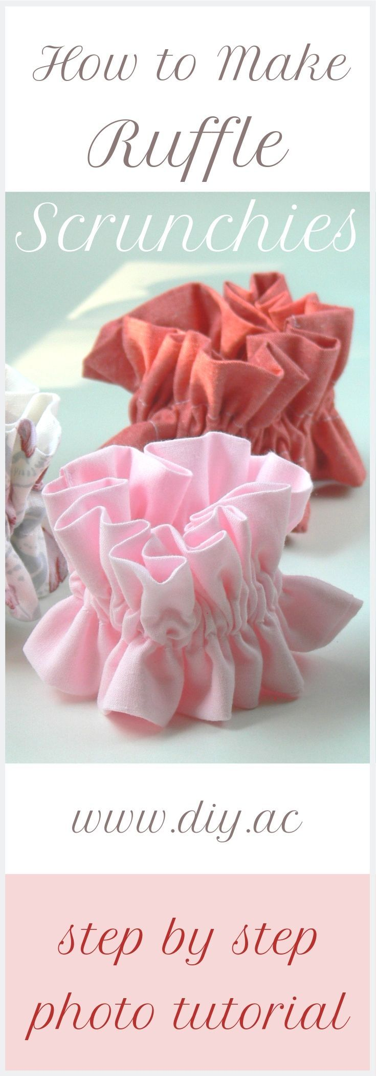 Scrunchies DIY - How to Make Scrunchies Step by Step - Free Sewing Pattern for Beginners