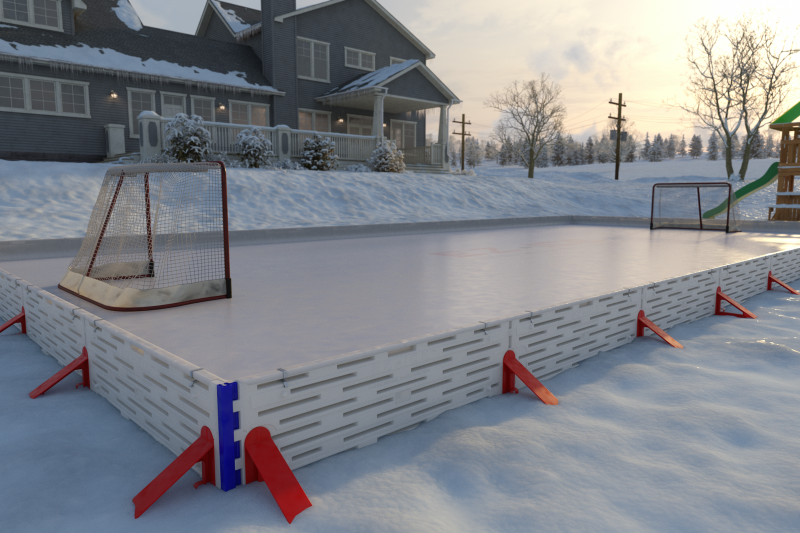 This Crazy Video Shows How You Can Build An Ice Rink In ...