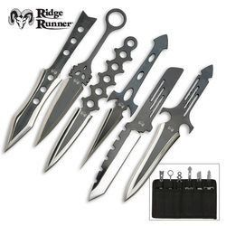 6 Pc Throwing Knives Variety: Ridge Runner Lightning Throwers 6 Pc Variety