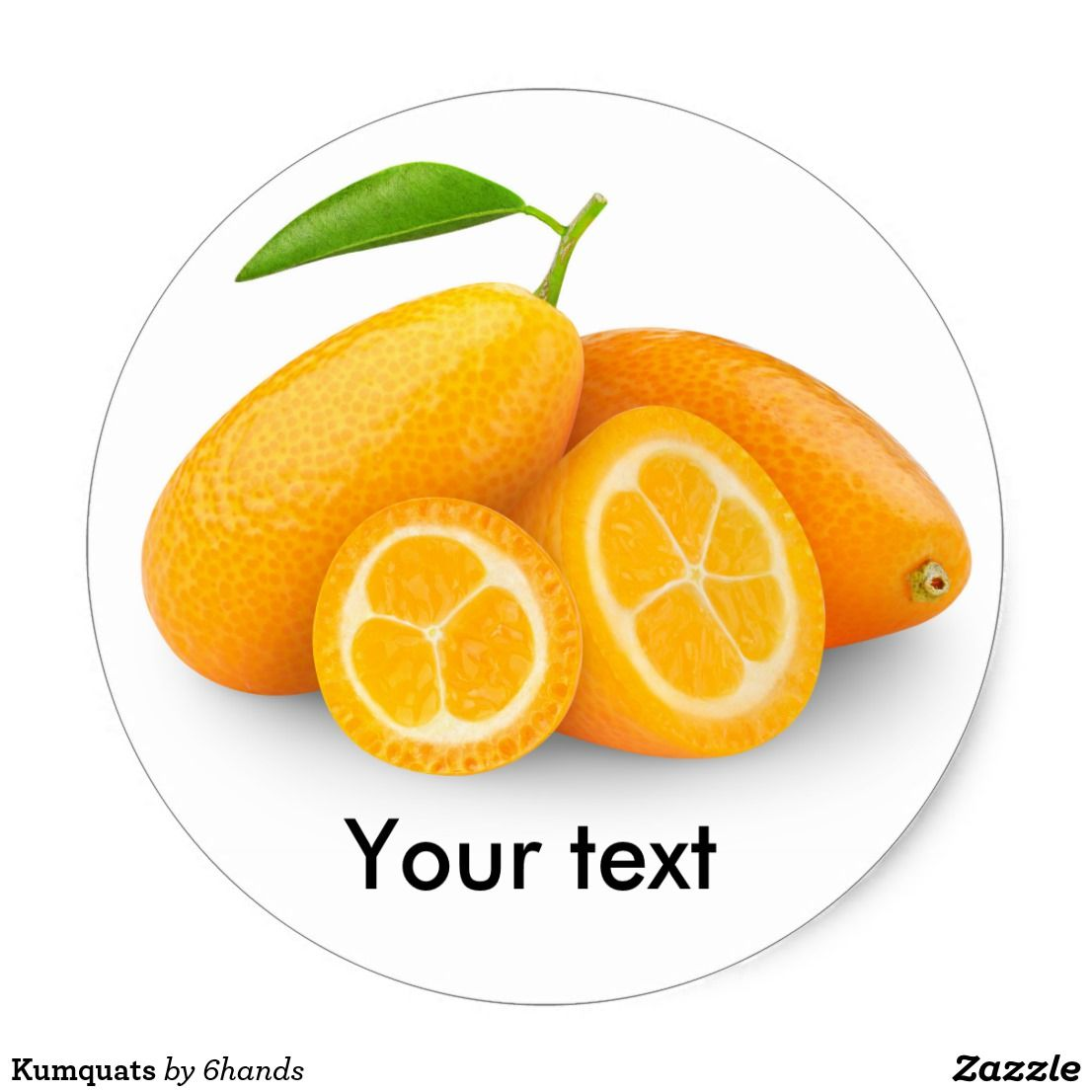 Kumquats classic round sticker custom stickers with beautiful fruits and vegetables for scrapbooking kids activities and diy projects zazzle