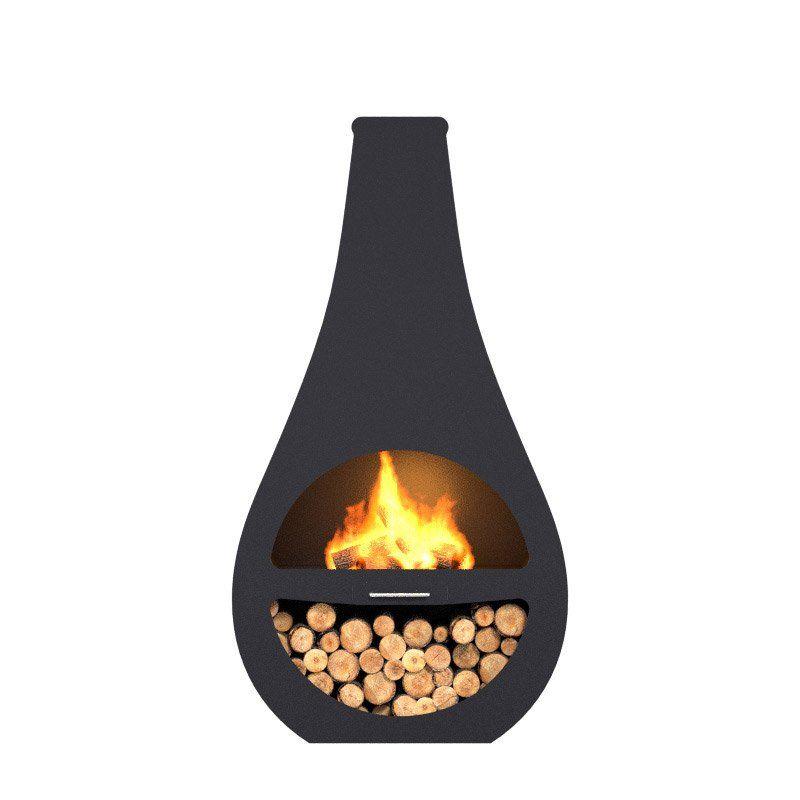 Cheminée Dextérieur Au Charbon De Bois Barbecook Kuro Li