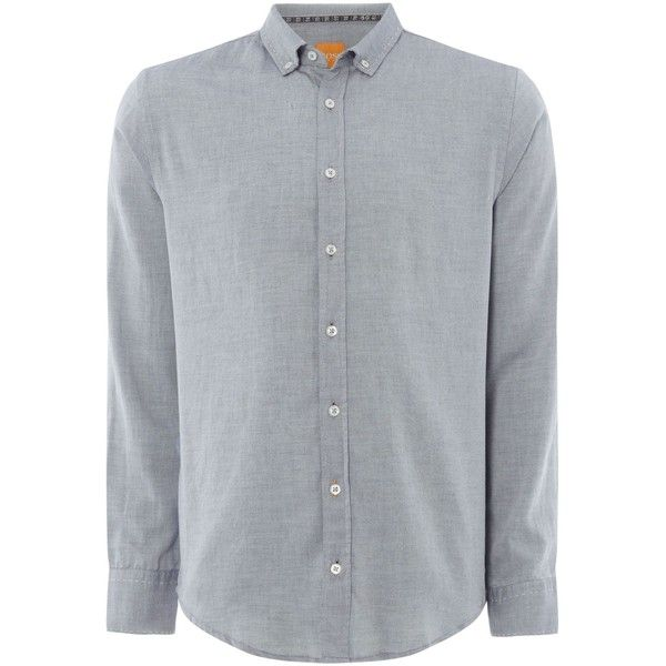 Hugo Boss Epreppy Oxford Shirt ($80) ❤ liked on Polyvore featuring men's  fashion, men's clothing, men's shirts, men's casual shirts, men shirts  casual ...