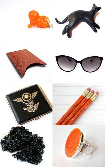http://www.etsy.com/treasury/NzU2NTkzMnwyNzIwODI4OTYz/orange-and-black
