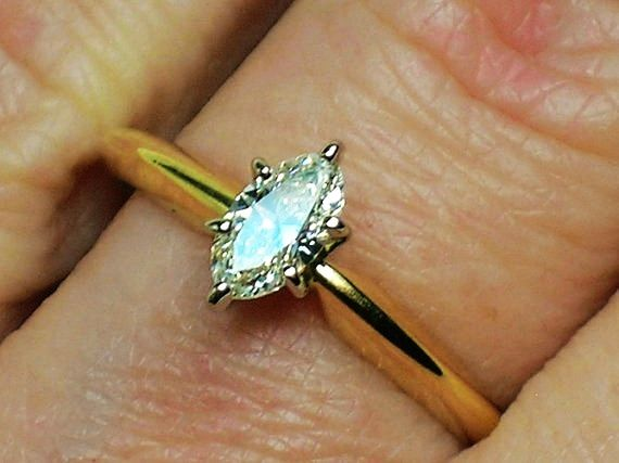 BEA wedding ring solitaire single stone rings were the standard