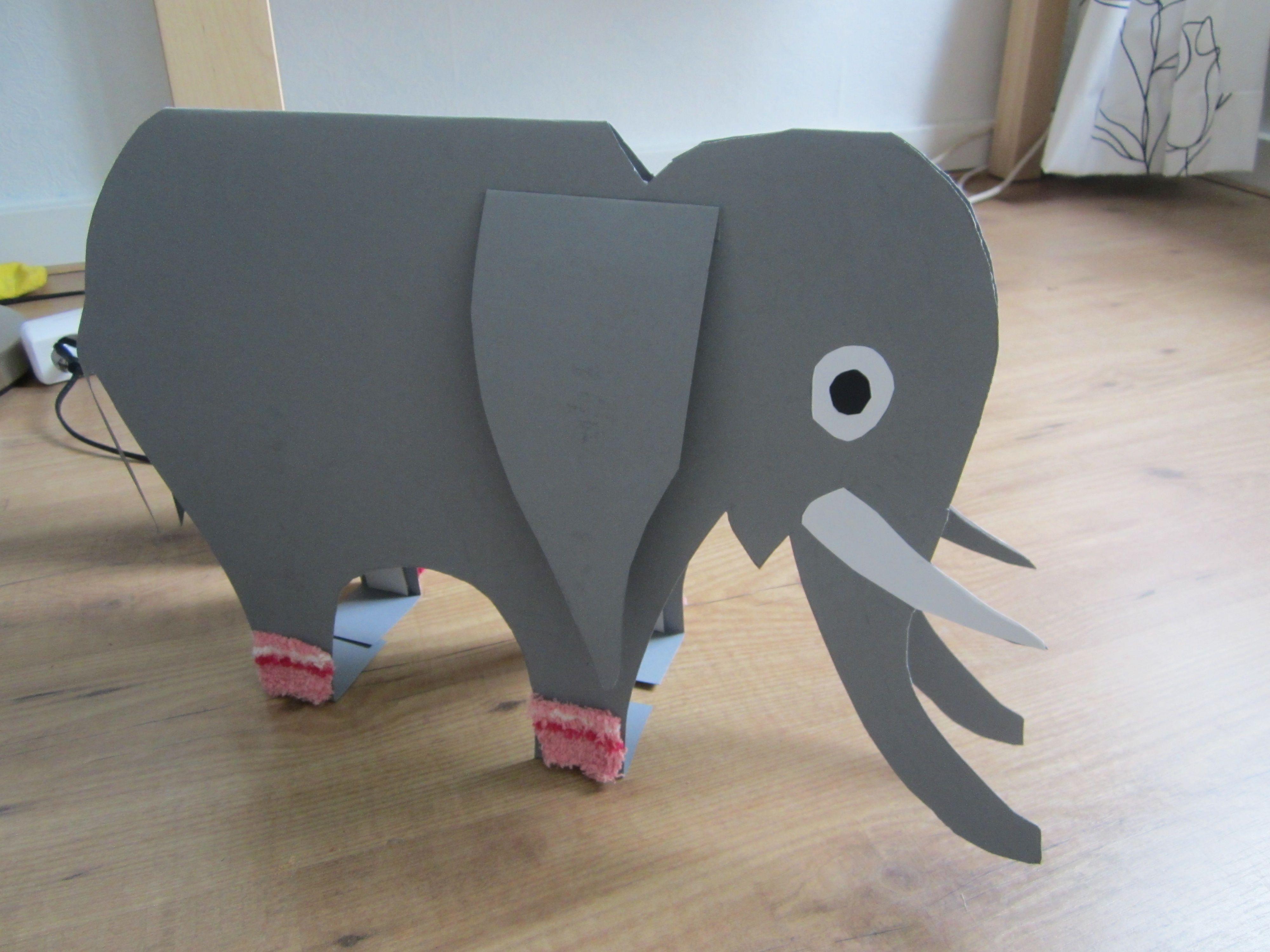 Olifant knutselen kan worden gebruikt bij een verhaal knutselen pinterest - Trophy olifant kartonnen ...