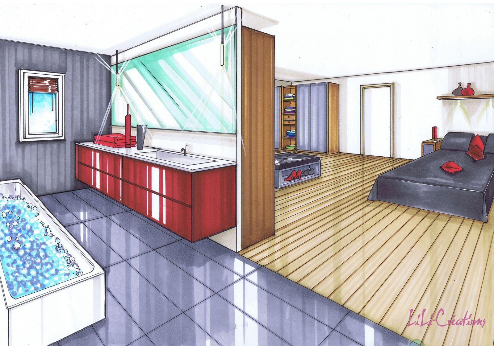 suite parentale classe cette suite parentale comprend l espace du coucher du dressing et d une. Black Bedroom Furniture Sets. Home Design Ideas