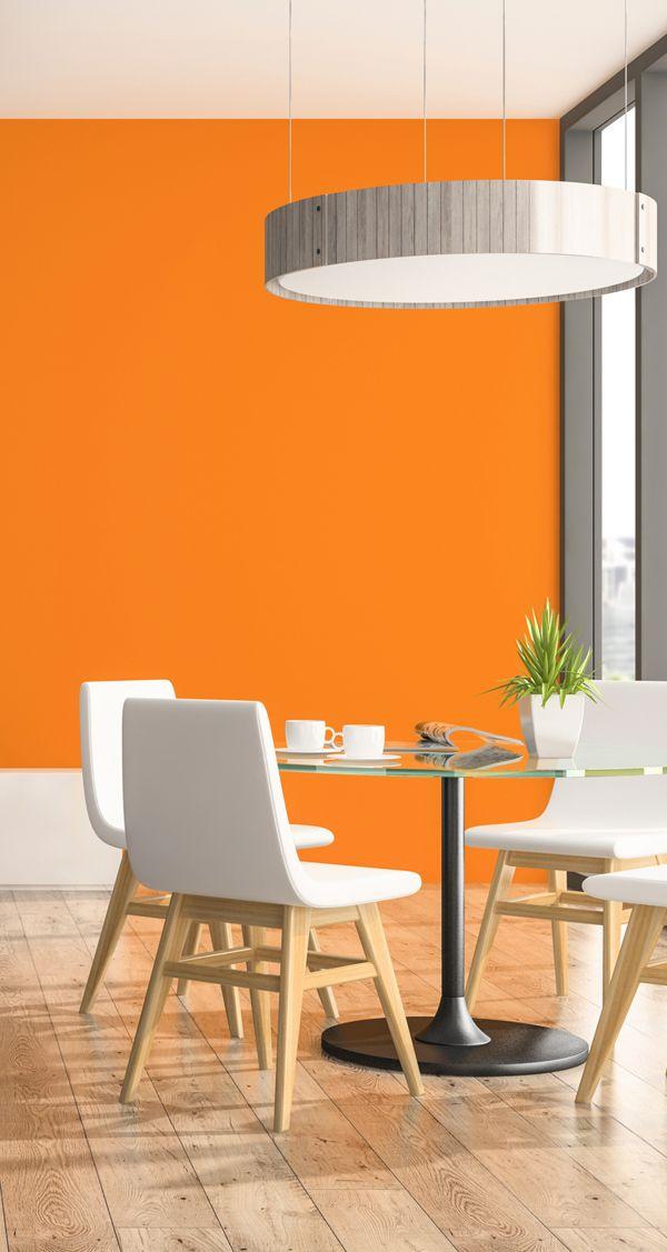 Wandfarbe orange in 2019 wohnen pinterest orange for Orange wandfarbe wirkung