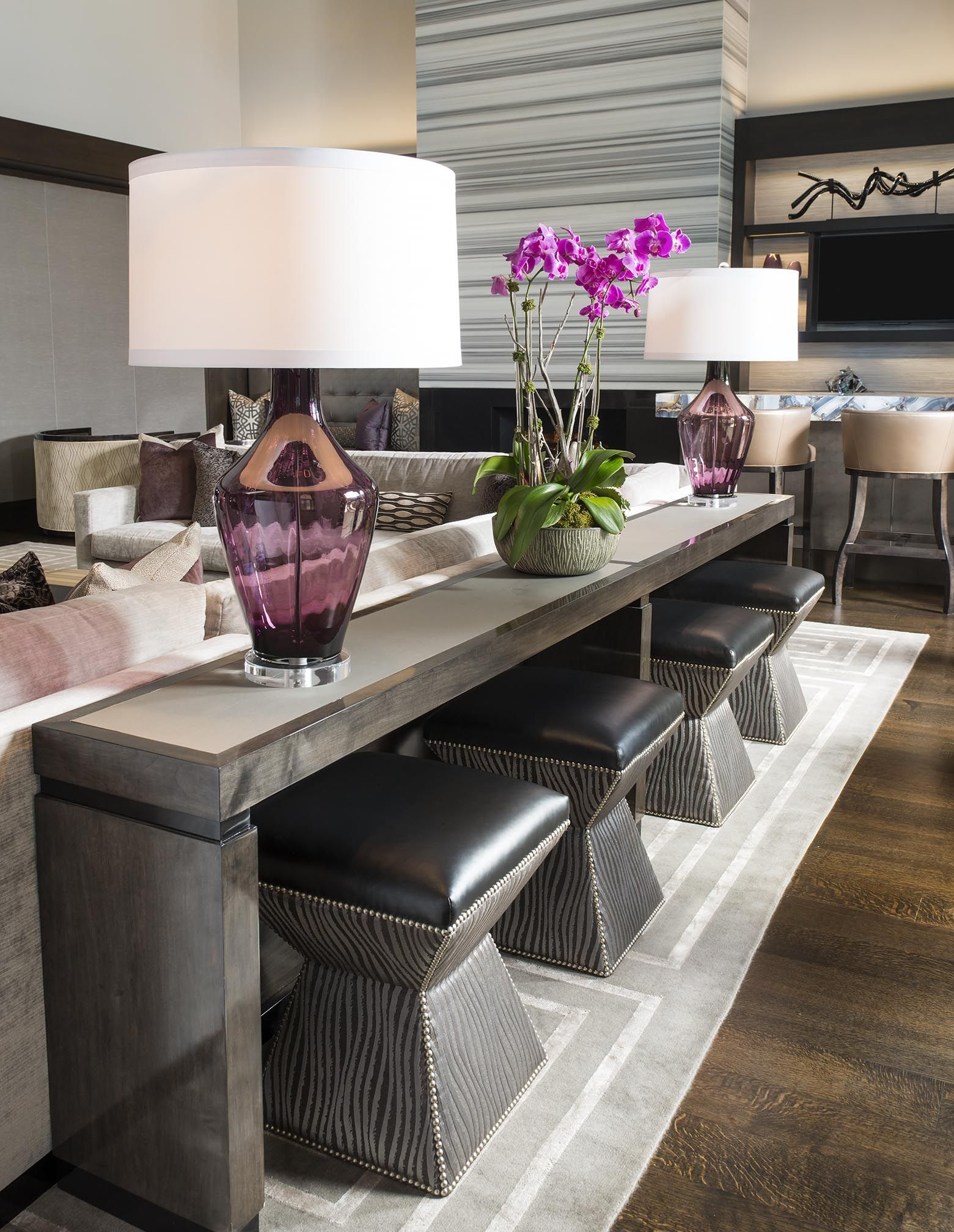 Elegant Sofa Bar Table Great For Super Bowl Party Or Fight Night
