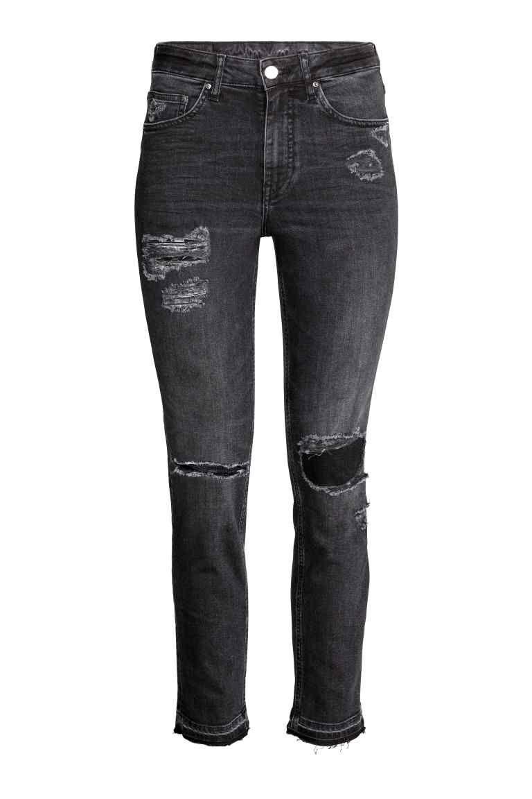6017364de43c0 Slim High Ankle Trashed Jeans