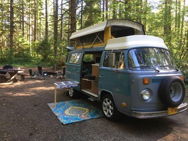 1975 Riviera Pop Top Corvallis Or Vw Bus Camper Vw Bus Bus Camper