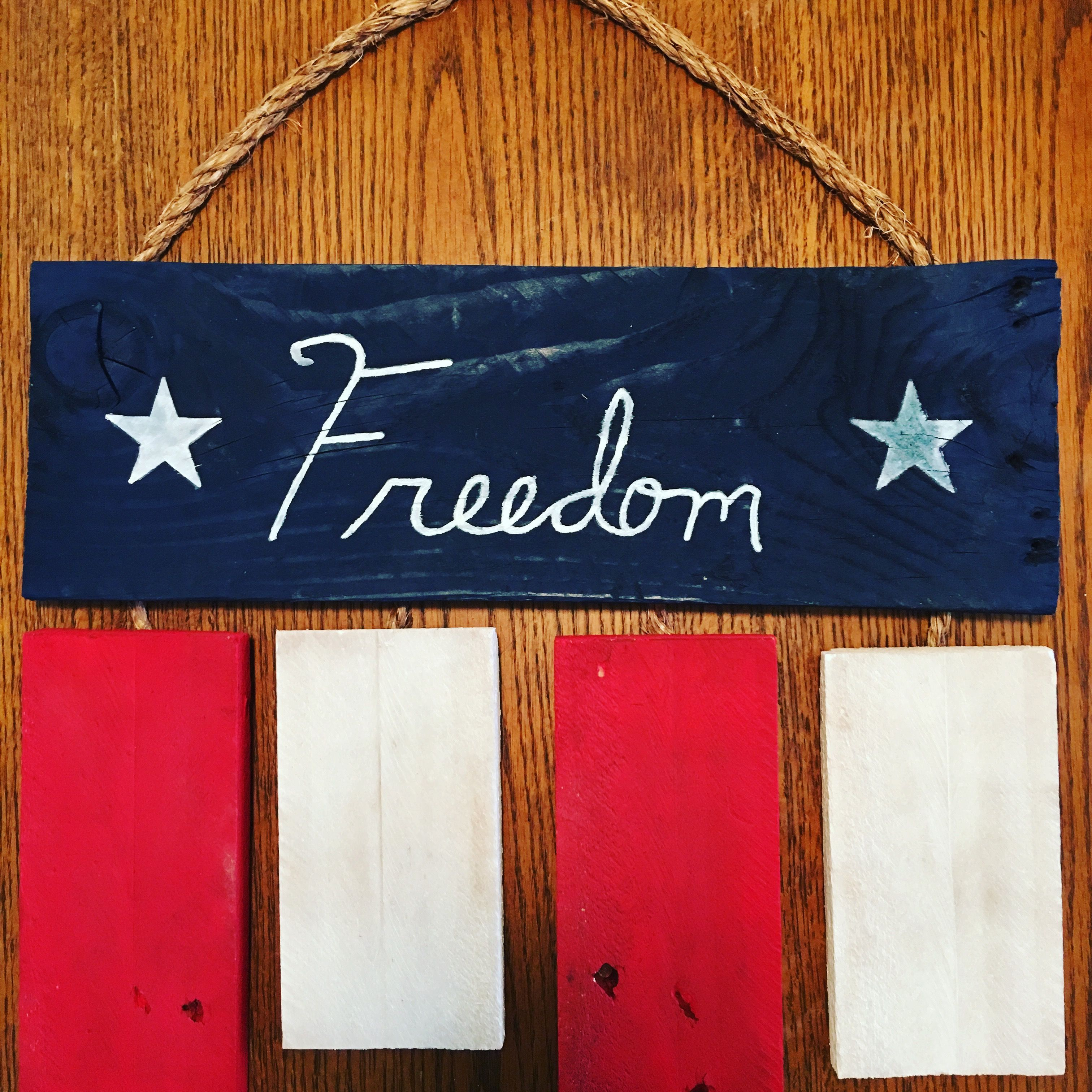Freedom isn\'t free. Rustic flag made out of reclaimed wood ...